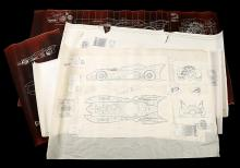 BATMAN RETURNS (1992) - Batmobile Printed Drafting