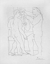 Pablo Picasso - Deux Hommes Sculptes - Two Male Statues