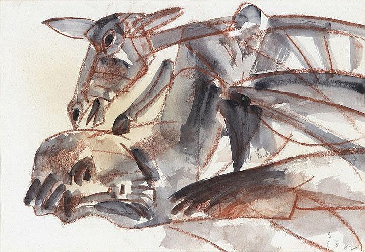 Somnath Hore  1921 - 2006  Untitled