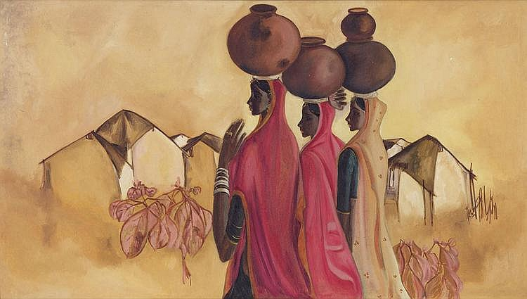B. Prabha  1931 - 2001  Untitled