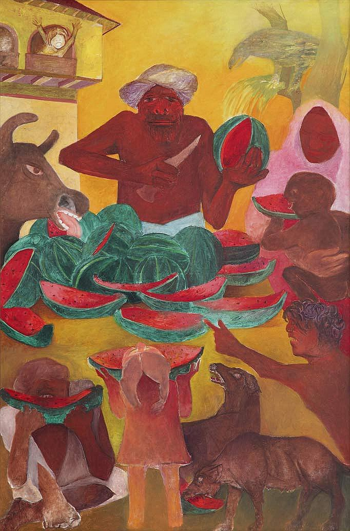 Krishen Khanna  b. 1925  A season of Watermelons