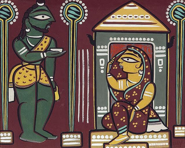 * Jamini Roy  1887 - 1972  Untitled