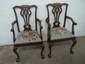 2 Old Mahogony chip N Dale Chairs