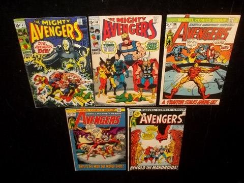 1960s 70s The Avengers Comic Books
