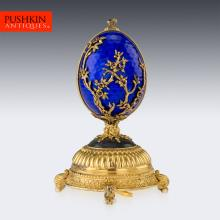STUNNING HOUSE OF FABERGE GOLD PLATED SOLID SILVER FIREBIRD MUSIC EGG