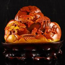 Beautiful Chinese Natural Jade Statue - Sages & Pine Tree