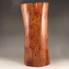 Beautiful Design Chinese Hainan Hua Li Wood Brush Pot