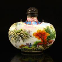 Chinese Red Copper Enamels Snuff Bottle