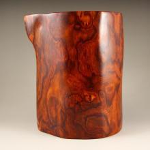 Superb Design Chinese Hainan Huang Hua Li Wood Brush Pot