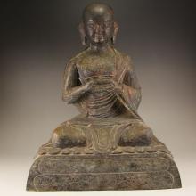 7.5 kg Vintage Chinese Bronze Buddhism Buddha Statue