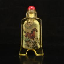 Chinese Beijing / Peking Glass Inside Painting Snuff Bottle