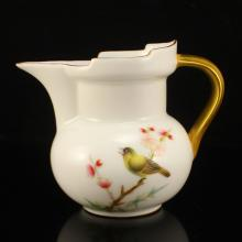 Chinese Gilt Gold Famille Rose Porcelain Teapot