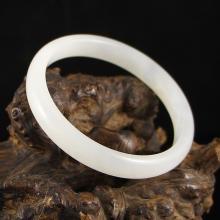 Inside Diameter 53 mm Chinese Hetian Jade Bracelet