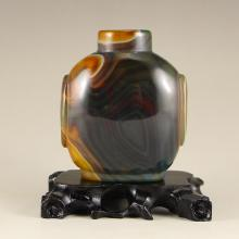 Chinese Natural Agate Snuff Bottle