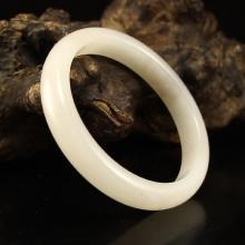 Inside Diameter 62 mm Chinese Natural Hetian Jade Bracelet
