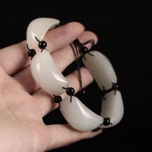 Chinese Hetian White Jade Bracelet