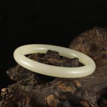 Inside Diameter 52 mm Chinese Hetian Jade Bracelet