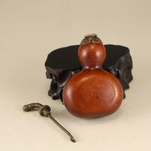 Chinese  Qing Dynasty Gourd Snuff Bottle