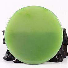 Chinese Natural Green Hetian Jade Lucky Pendant