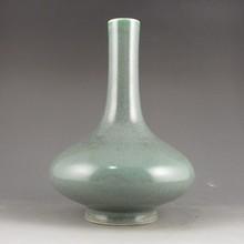Chinese Tea Dust Glaze Porcelain Vase w Yongzheng Mark