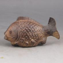 Hand Carved Chinese Natural Aloewood Pendant - Fish