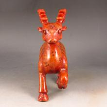 Hand Carved Chinese Natural Jade Statue - Deer