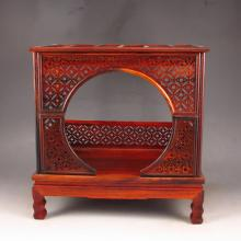 Very Rare Chinese Hand Carved Natural Huang Hua Li Wood Statue - Bed