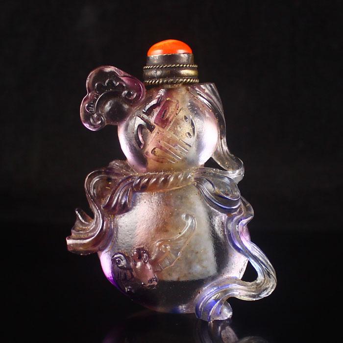 Handmade Chinese Beijing / Peking Glass Snuff Bottle