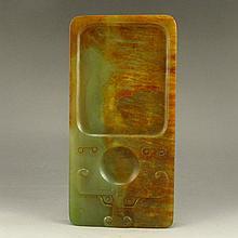 Hand Carved Chinese Natural Hetian Jade Inkstone