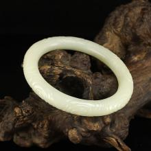 Inside Diameter 63 mm Superb Chinese White Hetian Jade Bracelet