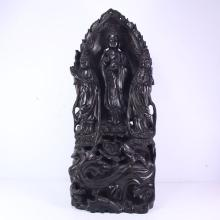 Chinese Zitan Wood Statue - Sam West Buddhism