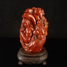 Chinese Natural Shoushan Stone Statue - Mermaid