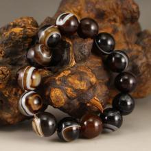 Chinese Natural DZI Agate Beads Bracelet