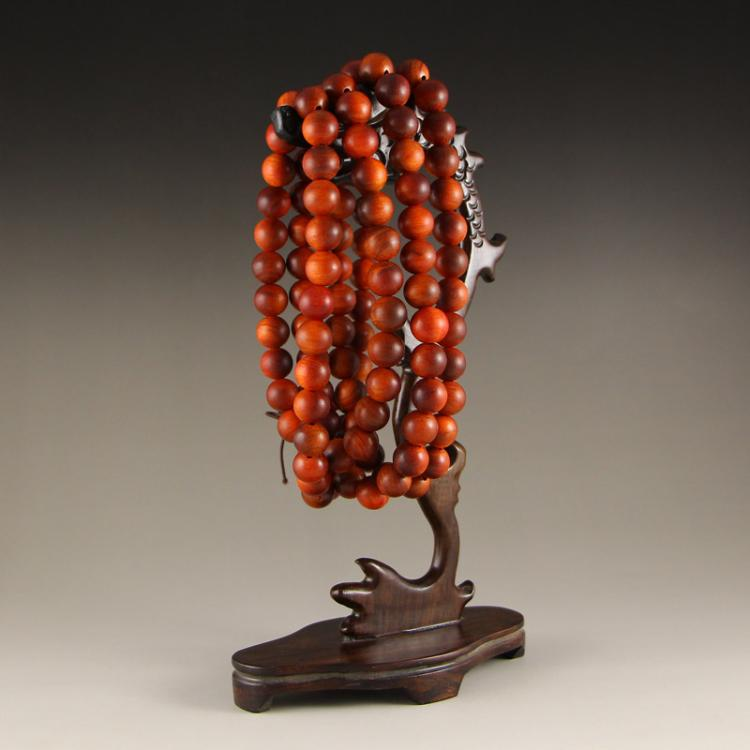 Chinese Natural Hua Li Wood Beads Necklace
