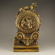Vintage Chinese Brass Kylin Statue