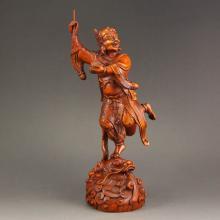 Vintage Chinese Boxwood Wood Figure Statue