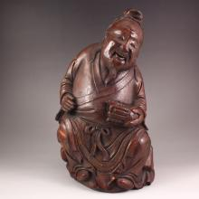 Vintage Chinese Bamboo Old Man Statue