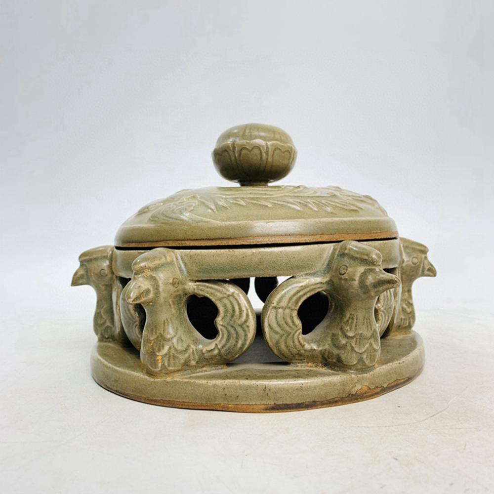 Chinese Yue Kiln Divine Bird Porcelain Inkstone