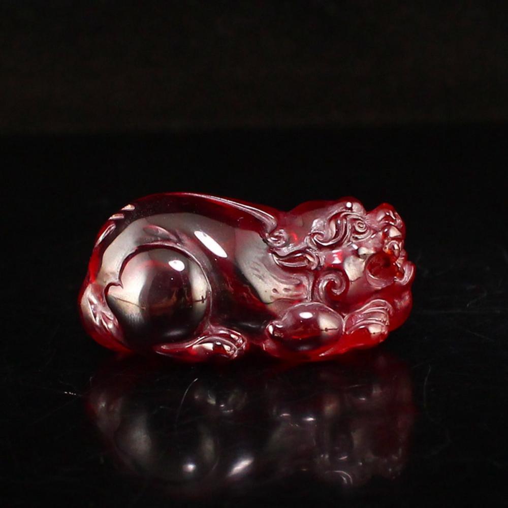 Red Zircon Fortune Pixiu Pendant