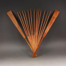 Chinese Qing Dy Bamboo Fan Frame