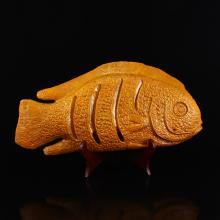 Chinese Shoushan Stone Statue - Fish