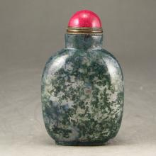 Chinese Natural Shui Cao Agate Snuff Bottle