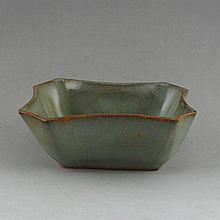 Chinese Long Quan Kiln Porcelain Brush Washer