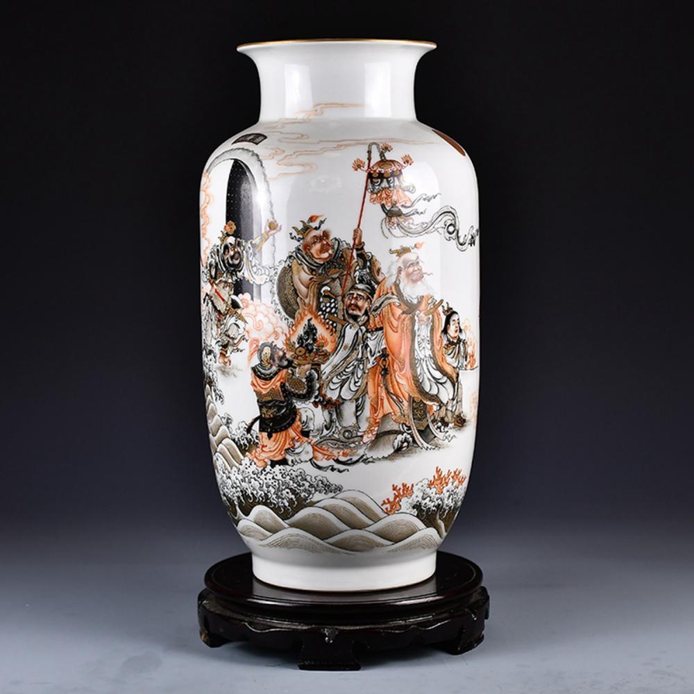 Superb Chinese Gilt Edge Famille Rose Porcelain Vase w Qianlong Mark