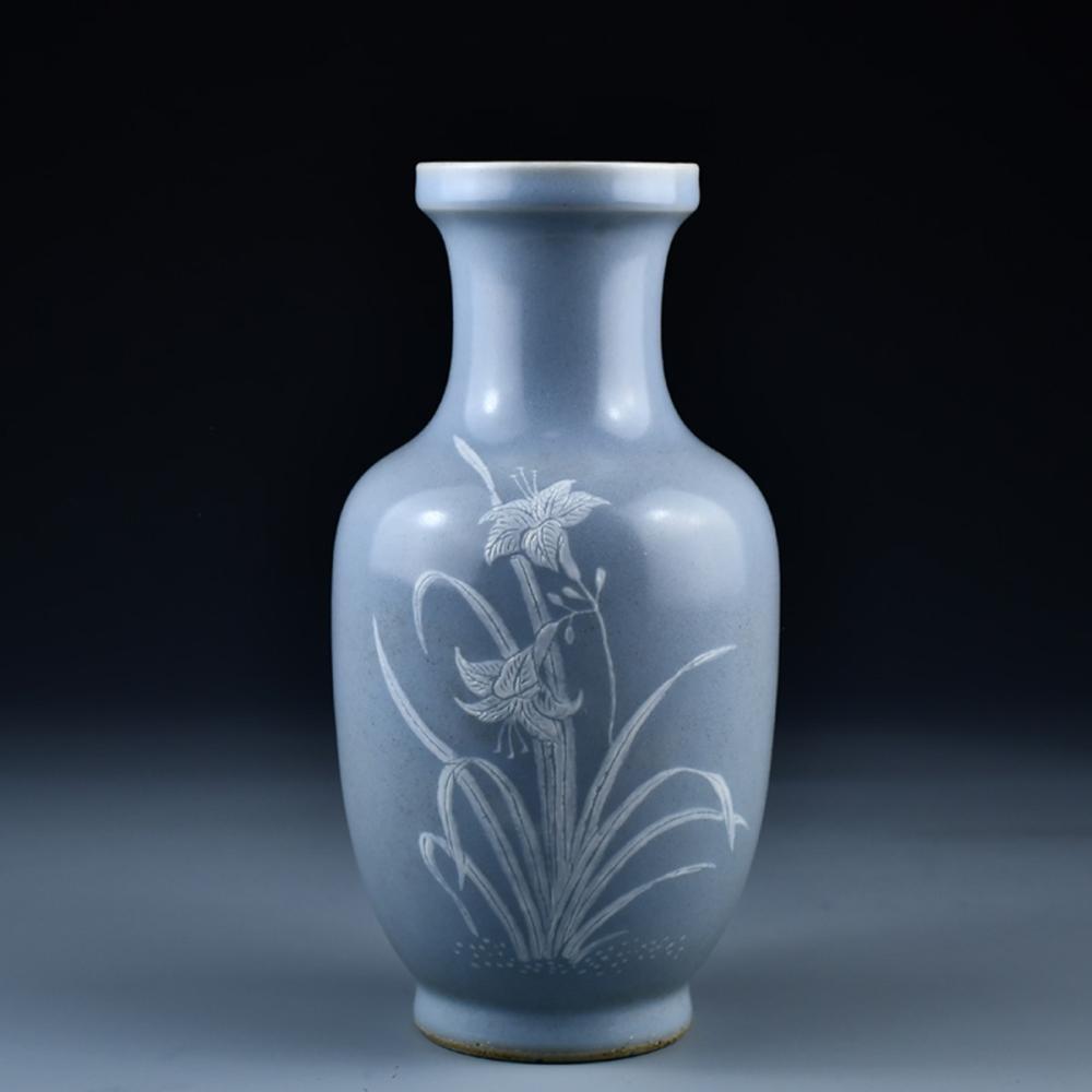 Vintage Chinese Dou Qing Glaze Porcelain Vase