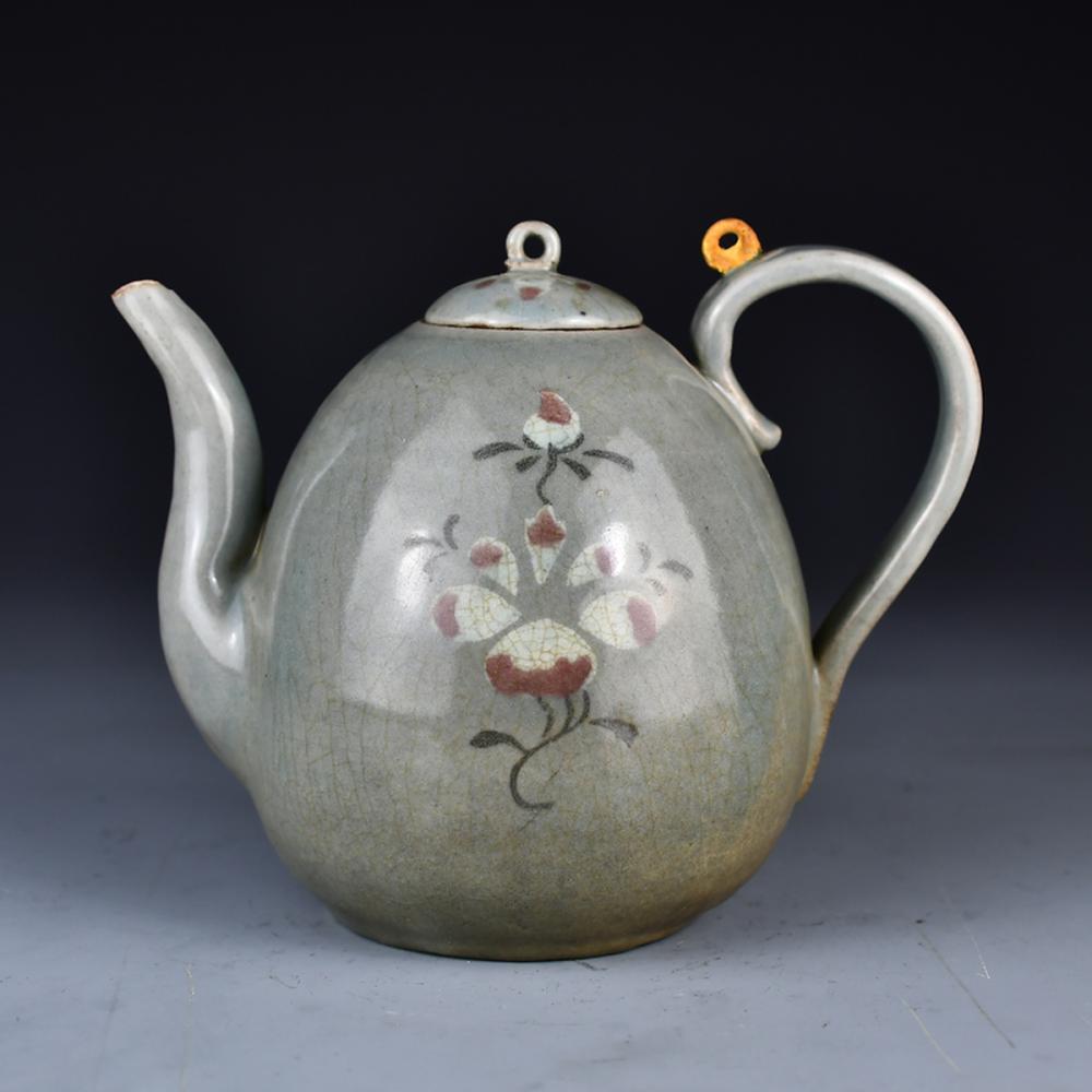 Vintage Koryo Porcelain Flower Teapot