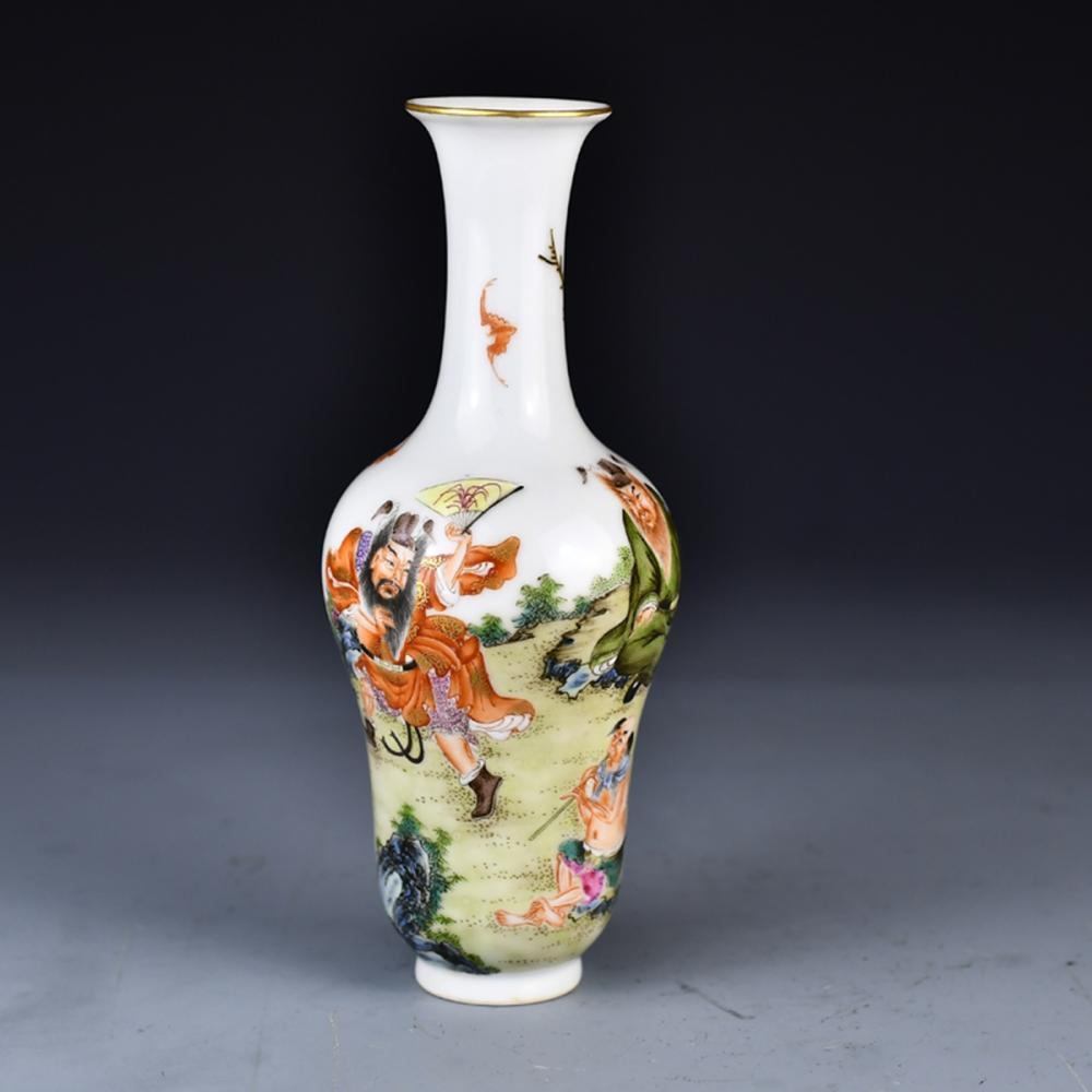 Beautiful Chinese Gilt Edge Famille Rose Porcelain Vase