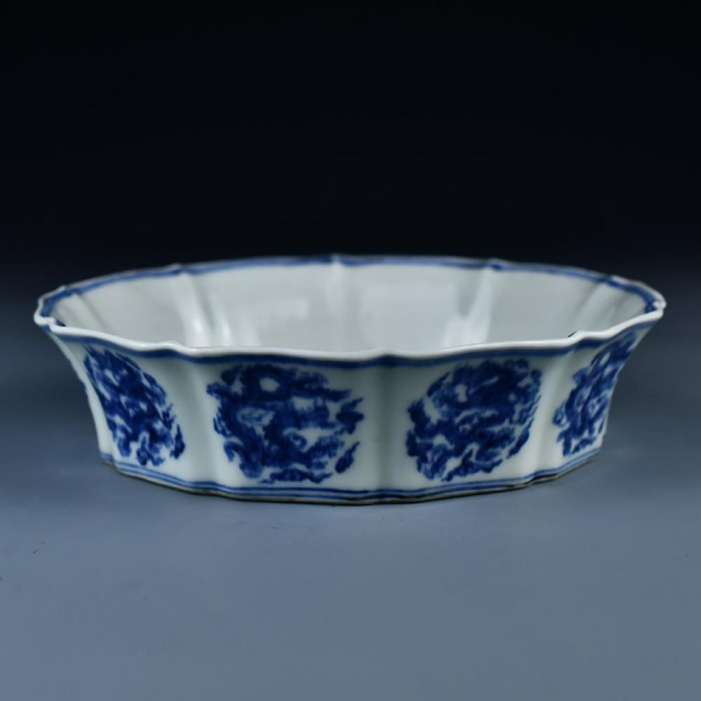 Chinese Ming Dy Blue And White Porcelain Plate - Dragon w Xuan De Mark