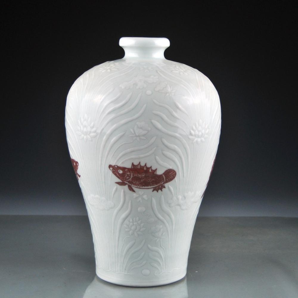 Chinese Ming Dynasty White Glaze Porcelain Vase