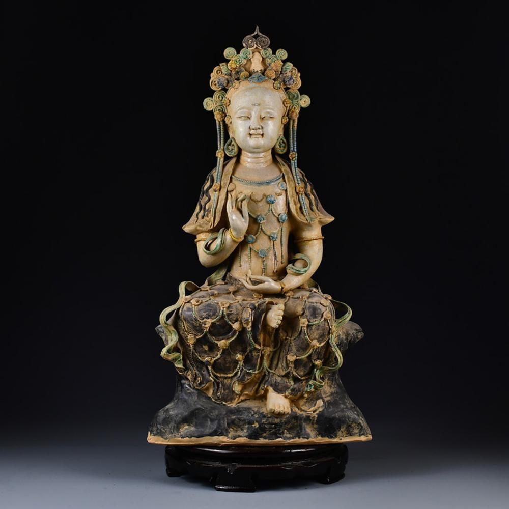 Chinese Ming Dynasty Porcelain Kwan-yin Statue